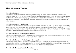 The Mineola Twins
