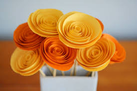 Flower Paper Craft How To Make Rolled Paper Flowers
