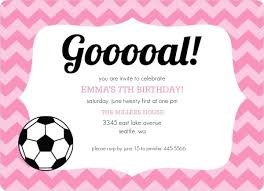 Soccer Party Invitations Pink Pattern Girls Soccer Party Invitation Kids Birthday Invitations