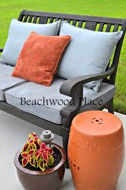 don t throw away your old cushions diy chalk painted outdoor cushions mix 2 tbsp calcium carbonate and 1 cup latex paint