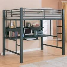 bunk bed office underneath. Full Size Loft Bed Frame Bunk Office Underneath E