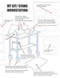 great ergonomic standing desk setup best images about cubicle wellness on