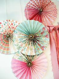 8 vintage chic paper fan decorations birthday decoration wedding decoration dessert table decorations by my lady dye