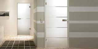 Modern glass door in bathroom and toilet