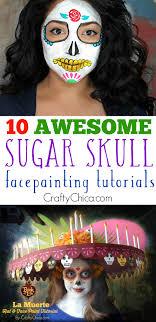 sugar skull facepainting
