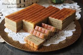 Durian Indonesian Layer Cake Recipe Cny Goodies Durian Cake