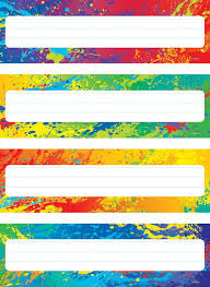 splashy colors desk toppers name plates variety pack view larger