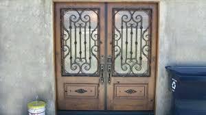 orange county custom design door wrought iron glass doors vs stained inserts