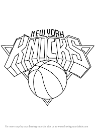 Lakers logo drawing at getdrawings | free download. Learn How To Draw New York Knicks Logo Nba Step By Step Drawing Tutorials