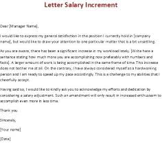Letter For Salary Increase Military Bralicious Co