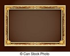 Picture frame border gold painting gold antique ornate old Clip Art