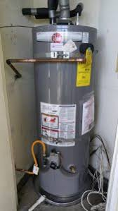 rheem gas heaters. this rheem prog48-u40-rh60 gas hot water heater was installed in a tustin, ca residence orange county as replacement of an old 50 gal bradford white heaters