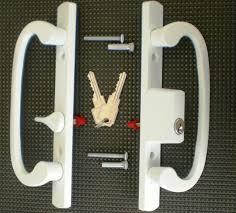 image of keyed patio door locks