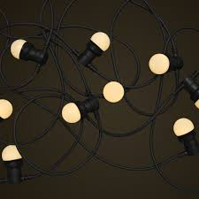 commercial festoon lighting with small white led light globes