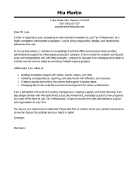 Cover Letter For An Executive Assistant Best Administrative