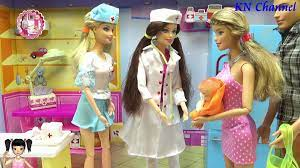 Đồ chơi trẻ em Bé Na Nhật ký Búp bê Barbie & Ken tập Bác sĩ