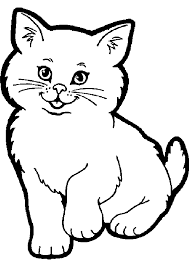 Cat Color Page Animal Coloring Pages