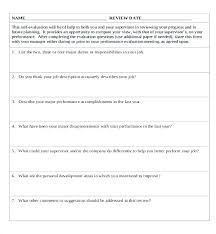 Simple Performance Appraisal Template Free Employee Review