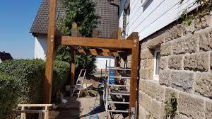12 qm + treppe in den garten. Projekt Anstellbalkon In Holzbauweise Balkon Holz Bausatz Youtube
