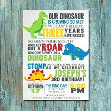 Design Your Own Birthday Party Invitations Dinosaur Themed Invitations Birthday Invites Outstanding Dinosaur