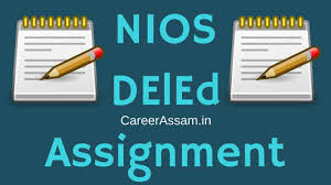 nios d el ed assignment answers language wise  nios deled assignment