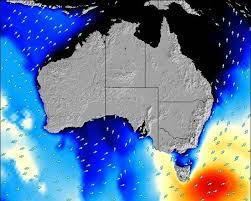 Australia Surf Map Wind And Wave Forecasts