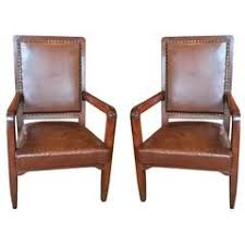 Library seating furniture 21st Century Classroom Indiamart Pair Of French Leather Library Chairs For Sale At 1stdibs
