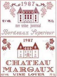 Bordeaux Chateau Margaux Cross Stitch Pattern By Monique Bonnin