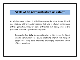 skills for administrative assistant resumes resume skills for administrative assistant position danaya us