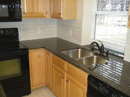 Tile Kitchen Countertops Kitchen Backsplash Subway Tile Black Granite Countertop Subway