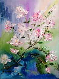 magnolia blossom painting 40x30x1 6 cm 2016 by alena shymchonak impressionism