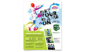 Youth Soccer Flyer Template Word Publisher