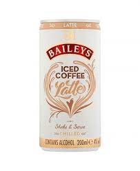 The bailey's iced coffee is a brown colored drink made from bailey's irish cream, coffee and ice, and served in a highball glass. Baileys Iced Coffee Latte 20cl