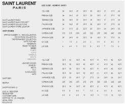 Ysl Mens Shirt Size Chart 1 Cheer For Bags Shoes Size Chart Ysl Size Chart