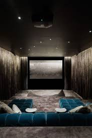 theatre room lighting. Contemporary Home Theater With Velvet Seating Scheme Of Room Lighting Theatre D
