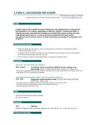 Free Rn Resume Templates Example Nursing Sample Nurses Format All
