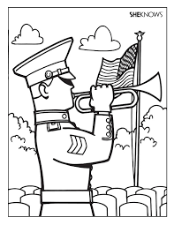Memorial Day Coloring Pages For Kids Soldier Coloring Page Free