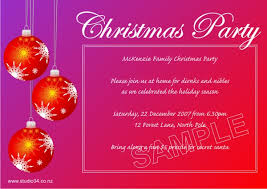 Corporate Invitation Card Format Sample Of Invitation Card For Christmas Party Merry