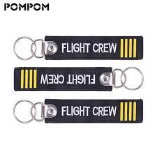 3 pcs lot flight crew keychain aviation gifts for pilot key chain embroidery keychain keying crew llaveros aviacion jewelry