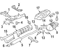 parts com® volvo xc90 exhaust components oem parts 2004 volvo xc90 t6 l6 2 9 liter gas exhaust components