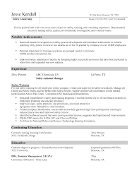 Construction Safety Officer Resume Examples New Safety Resume Sample