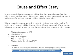 causes and effect essay example cause and effect paper layout  essay anita j ghajar selim table of contents throughout 23 extraordinary cause and effect example outline
