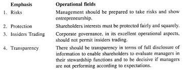 essay on corporate governance top essays  emphasis and operational fields
