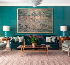 velvet turquoise walls // formal living room // markham roberts