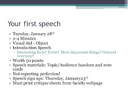 giving your first speech ppt video online your first speech tuesday 28th 2 4 minutes