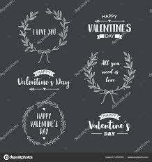バレンタインの日はシンボルのセットイラストやレタリング デザイン