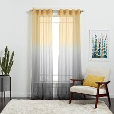 Achim Semi Sheer Ombre Curtain Panel - Free Shipping On Orders Over $45 -  Overstock.com - 18543617