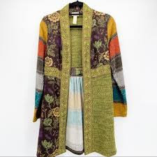 Tracy Porter Sweaters | Tracey Porter Floral Embroidered Duster Cardigan S  | Poshmark