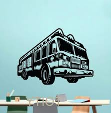 fire truck wall art pertaining to most recently released firetruck wall decals gutesleben gallery