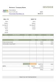 Invoice Template For Free Cool Simple Sample Discount Amount On Sales Report Standard R Invoice